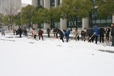 勠力同心  连夜奋战  市机关管理局全力以赴铲雪除冰保安全